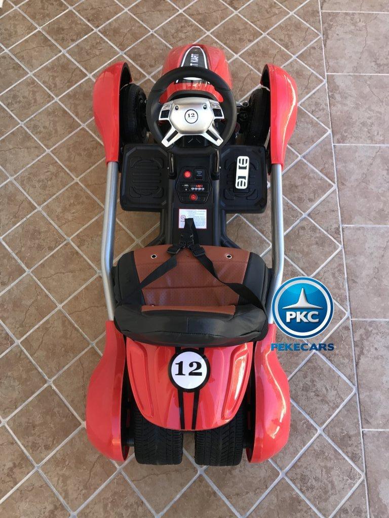 Vista desde arriba del Pekecars go-kart 12v 2.4g rc rojo width=