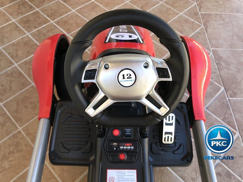 Parte frontal del Pekecars go-kart 12v 2.4g rc rojo width=