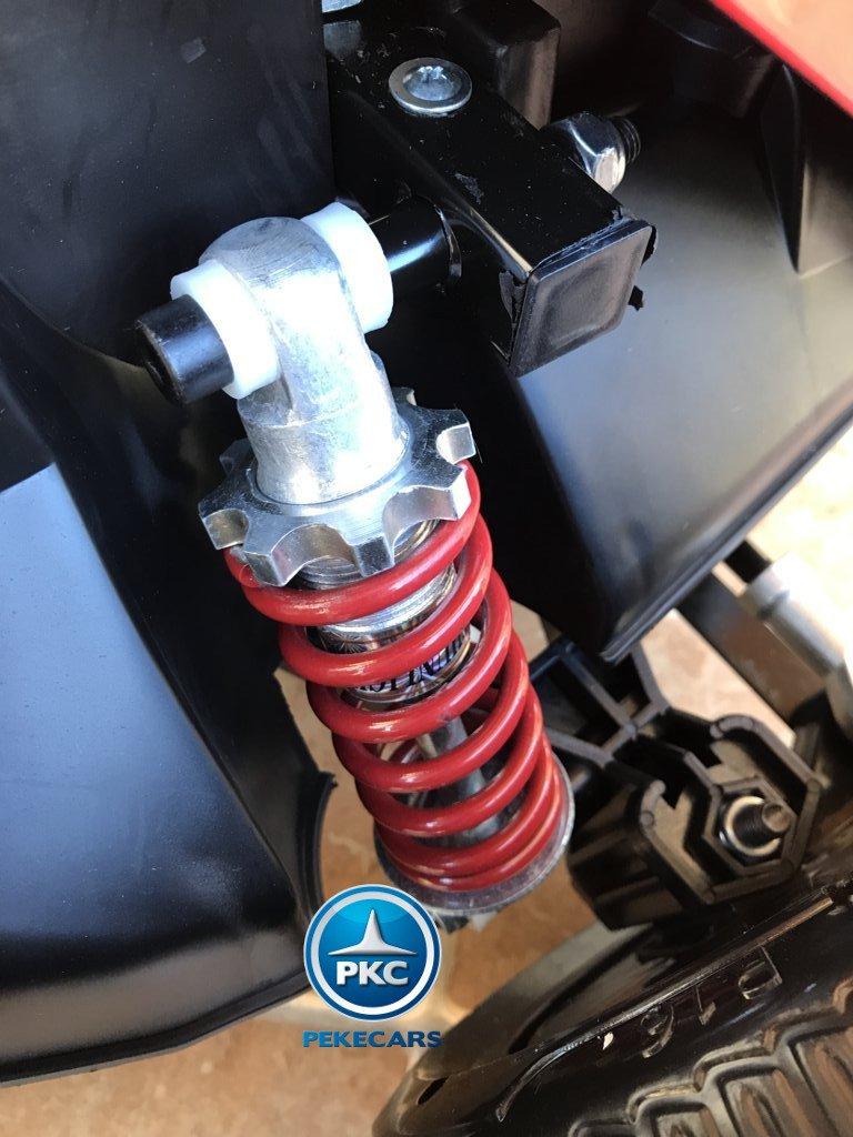 Amortiguador del Pekecars go-kart 12v 2.4g rc rojo width=
