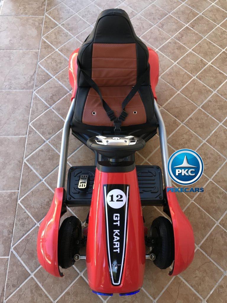 Vista frontal del Pekecars go-kart 12v 2.4g rc rojo width=