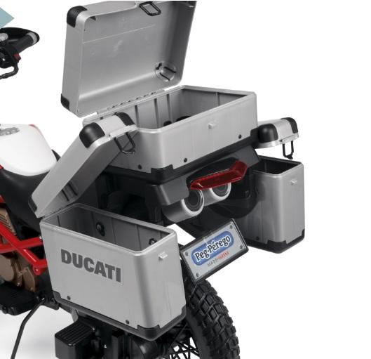 Moto Ducati Enduro 12V - Zoom maletines