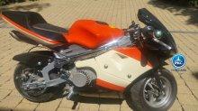 Moto ducati style naranja y blanca 36v