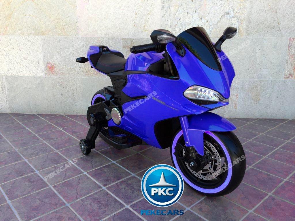 MOTO DUCATI SUPERBIKE 1299 PANIGALE STYLE 12V AZUL-000