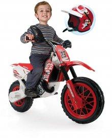Moto de cross enduro 6v con casco