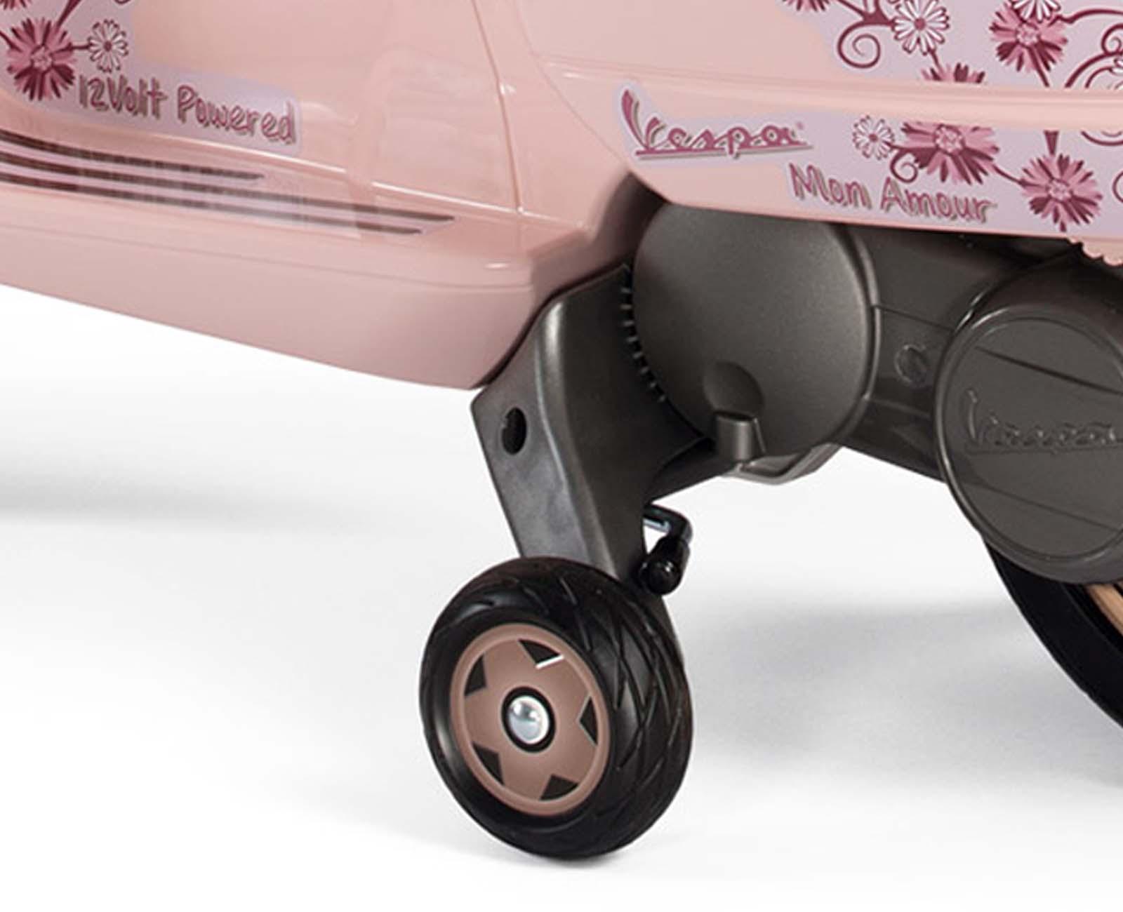 Moto electrica para niños Vespa Mon Amour Rosa