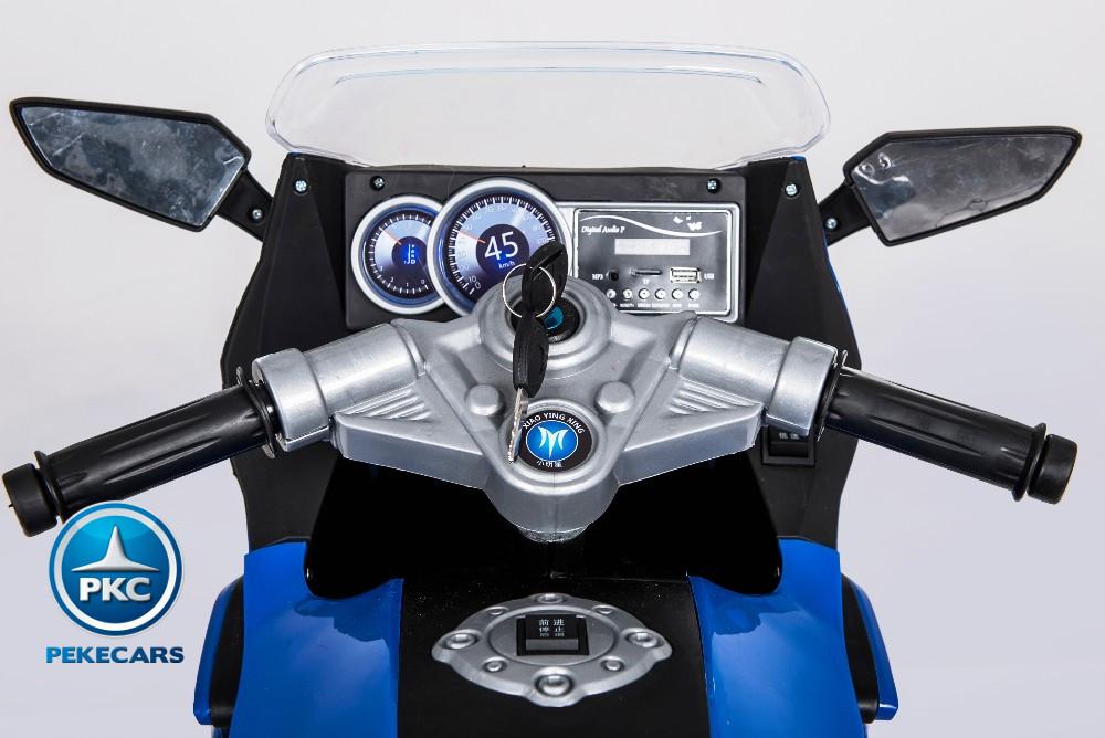 MOTO BMW STYLE C 650 AZUL MANILLAR width=