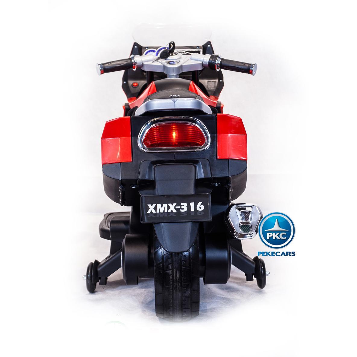 MOTO BMW STYLE 650 C ROJA TRASERA width=