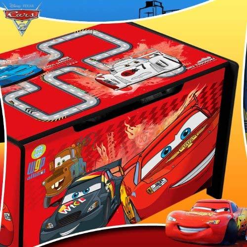 Caja de madera para juguetes cars
