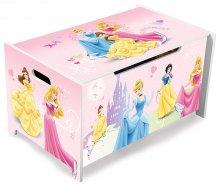 Mueble Infantil caja de madera para juguetes de princesas de disney