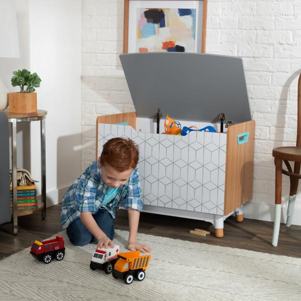 Kidkraft caja de juguetes de madera Mid Century 14975 - con niño