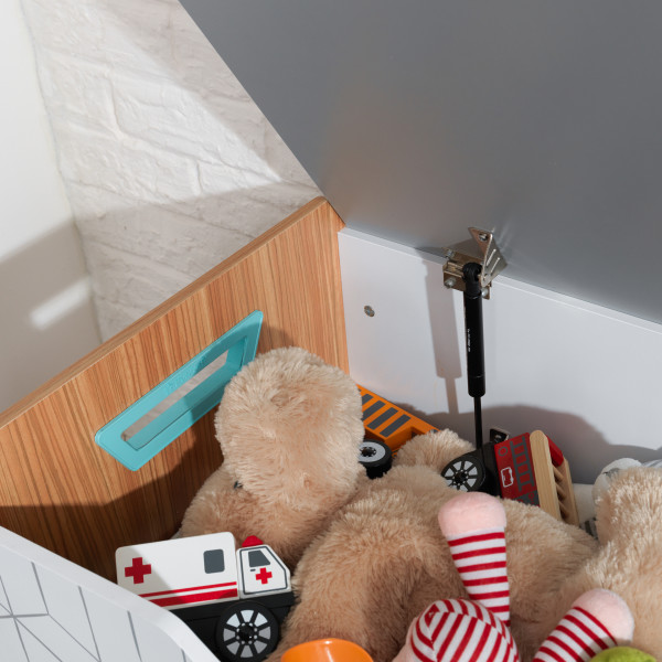 Kidkraft caja de juguetes de madera Mid Century 14975 - zoom bisagra