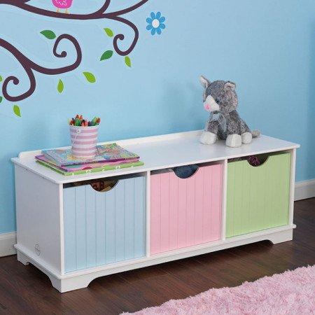 mueble para recoger juguetes color pastel