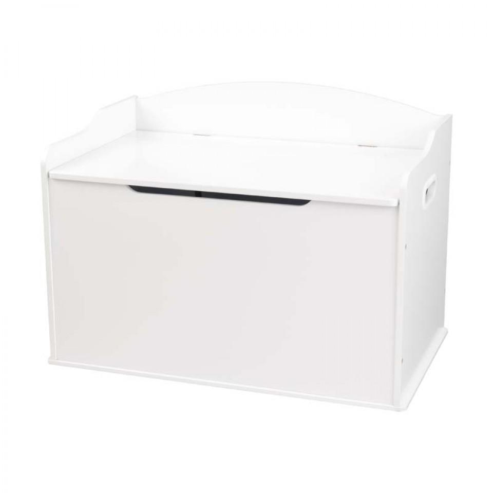 Kidkraft austin toy box natural 14953 -  Kidkraft Baul Para Juguetes Austin Blanco 14951 Con Fondo Blanco