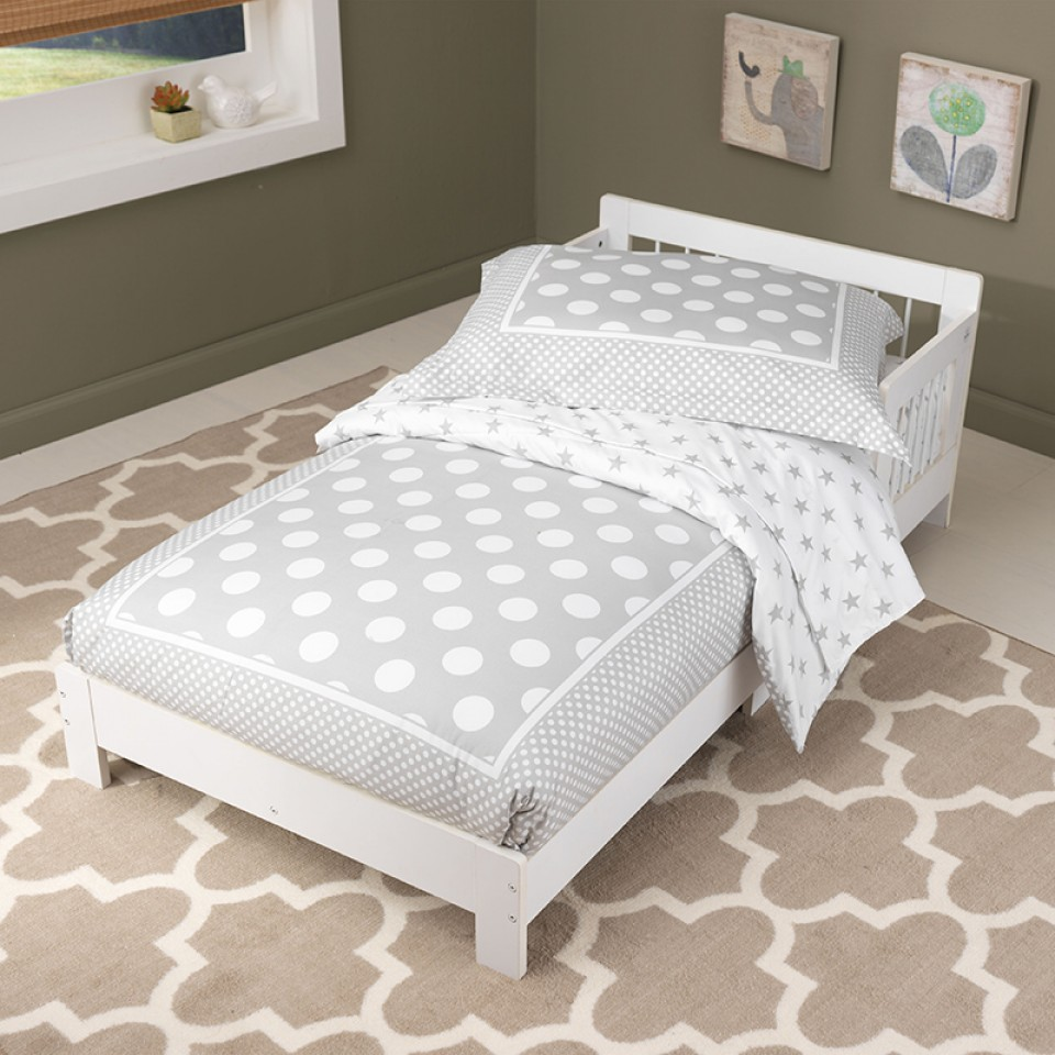 kidkraft cama clasica para nio blanca vista principal