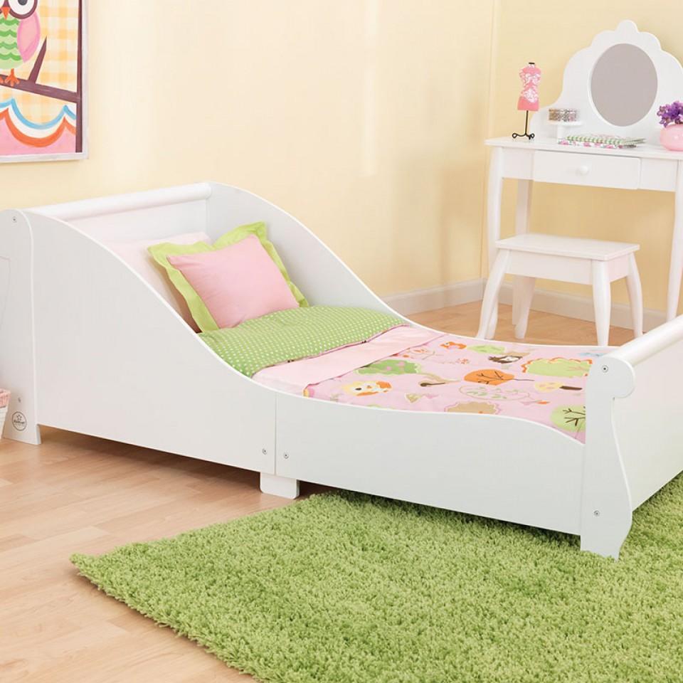 Kidkraft cama con barandas- blanco 86730 | Inforchess