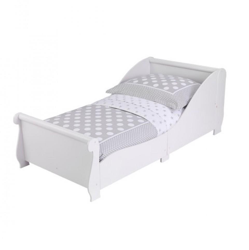 kidkraft cama con barandas blanco con fondo blanco