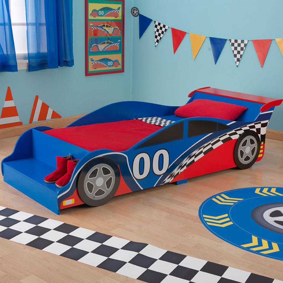 kidkraft cama en forma de coche de carreras vista principal