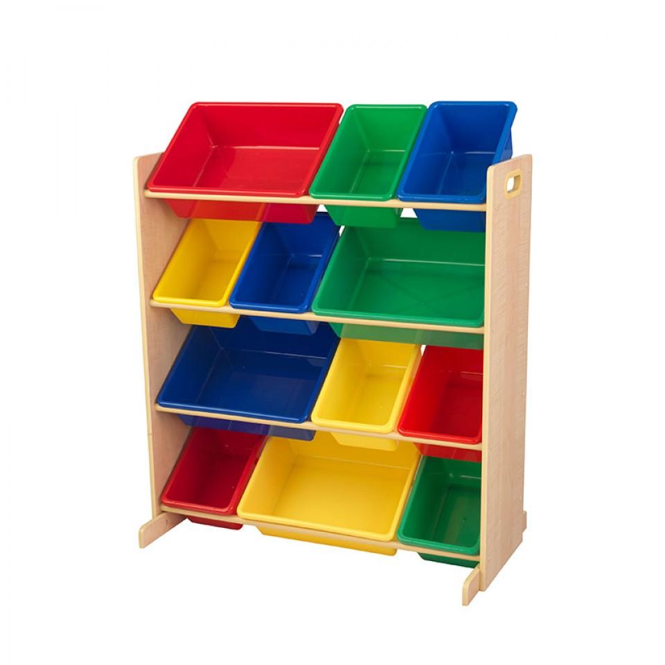 Kidkraft estanteria con cajones en colores primarios 16774 - Muebles de almacenaje para ninos ...