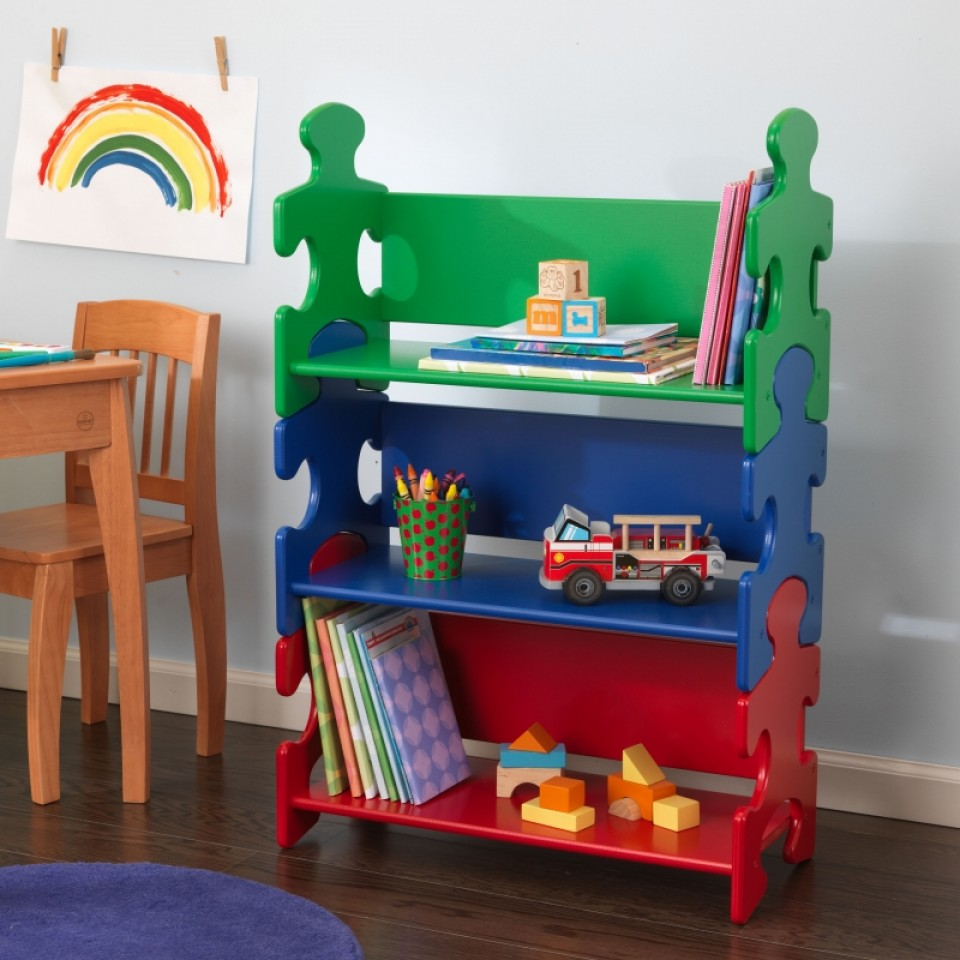 Kidkraft Estanter A De Libros En Colores Primarios 14400 Inforchess # Muebles Coquetos