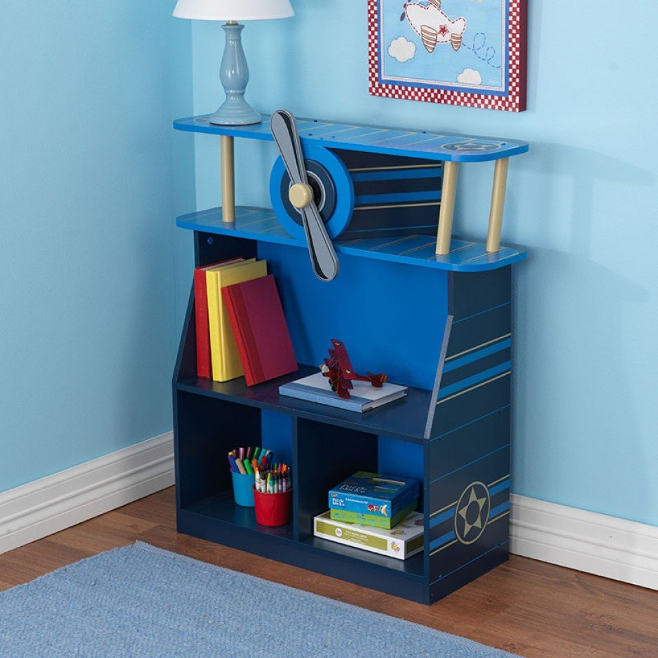 Kidkraft Estanteria Para Libros Estilo Avion 76270 Inforchess # Muebles Coquetos