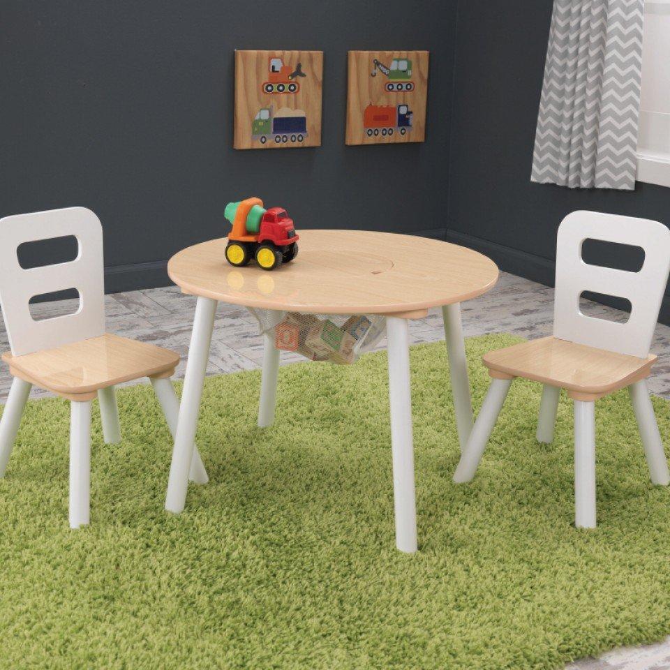 Kidkraft juego de mesa redonda con dos sillas 27027 - Mesa redonda con sillas ...