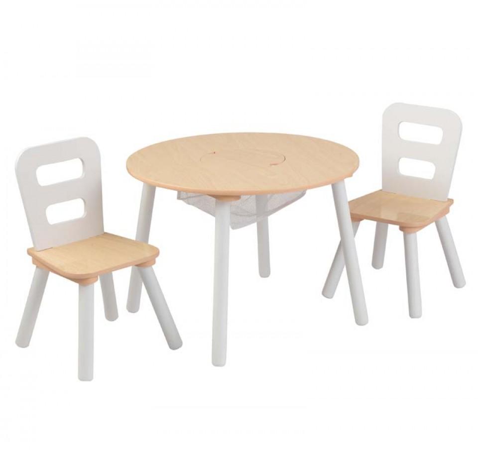 Kidkraft juego de mesa redonda con dos sillas 27027 inforchess - Mesa redonda con sillas ...