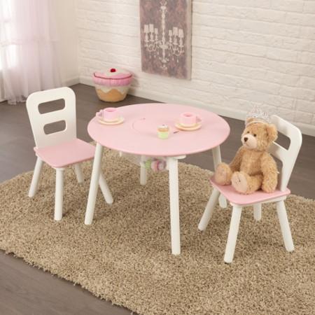 mesa infantil para niños rosa
