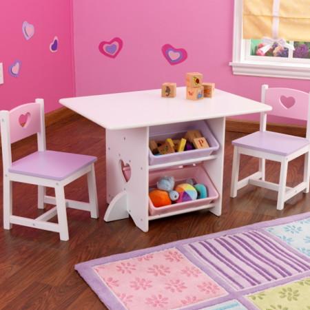 mesa rosa para niña
