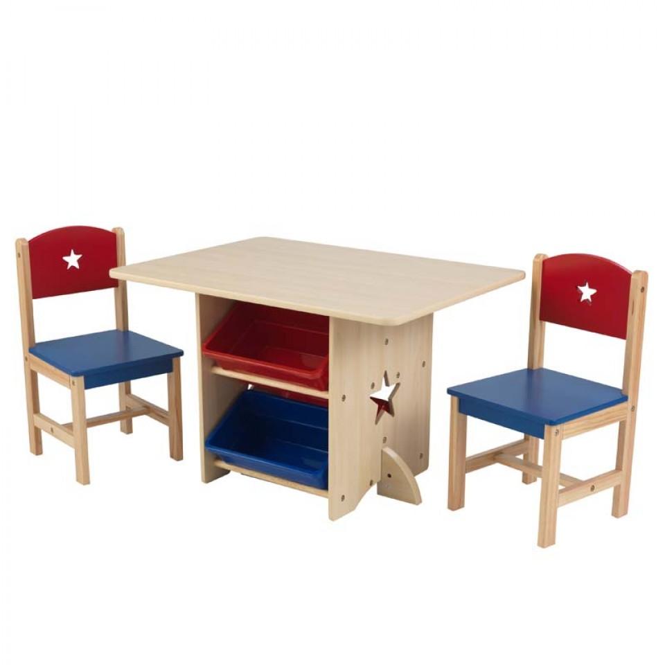 Kidkraft juego de mesa y sillas estrella en color primario | Inforchess