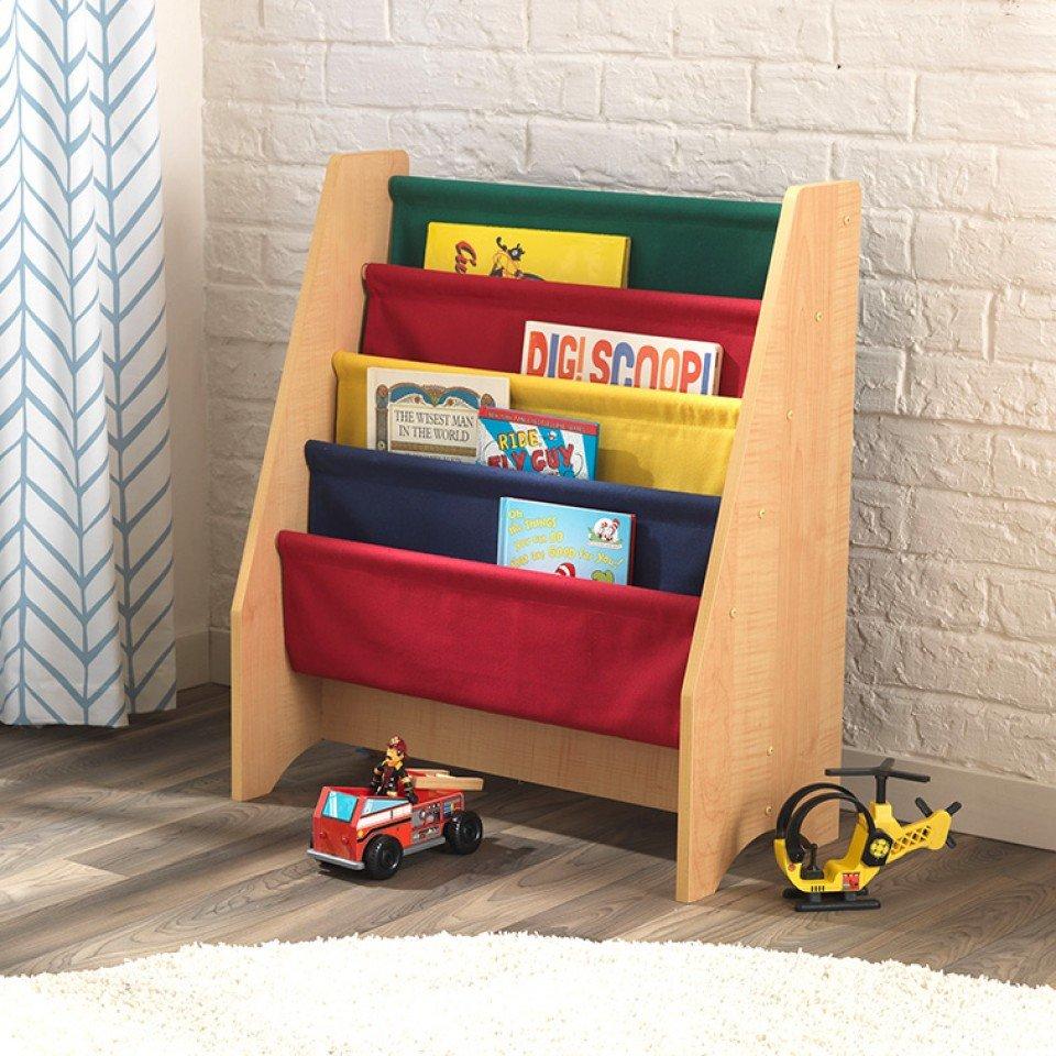 Kidkraft Librero De Madera Y Tela En Colores Primarios 14226  # Pequenos Gigantes Muebles