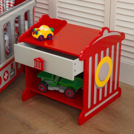 cama bomberos para niños width=