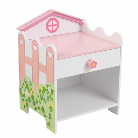 mesa infantil rosa width=