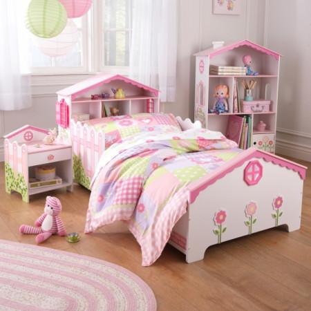 habitación rosa para niña width=
