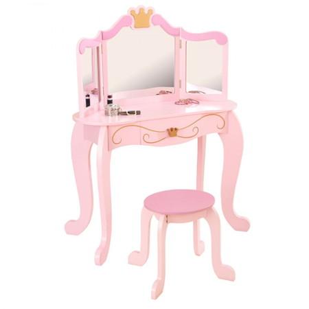 tocador rosa para niña