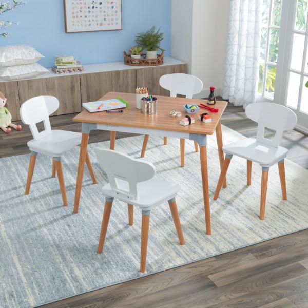 Kidkraft set de mesa y 4 sillas Mid Century 26196 - vista set