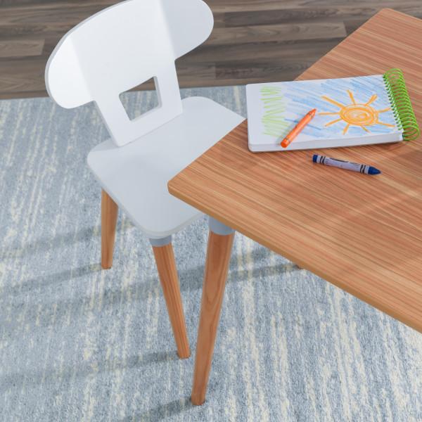 Kidkraft set de mesa y 4 sillas Mid Century 26196 - vista esquina mesa