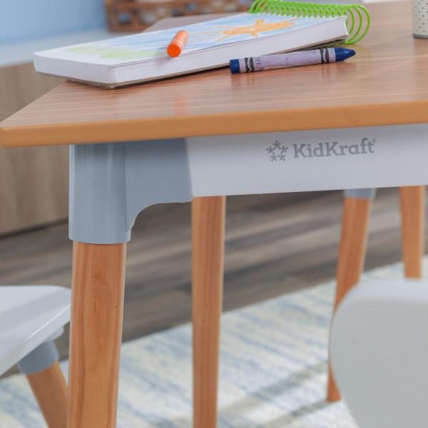 Kidkraft set de mesa y 4 sillas Mid Century 26196 - vista lateral mesa