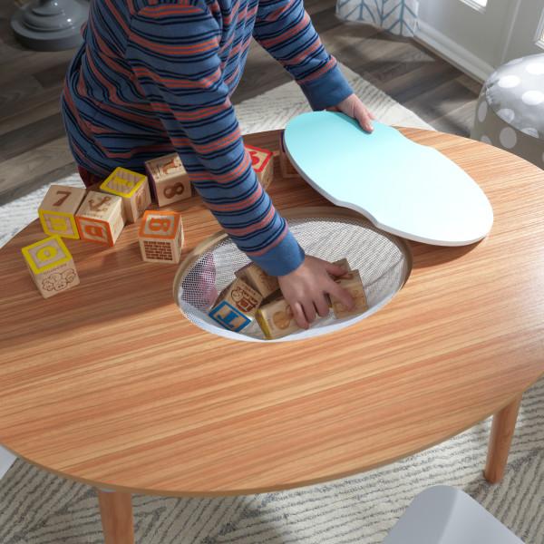 Kidkraft juego de mesa y sillas Mid Century 26195 - zoom almacenaje en uso