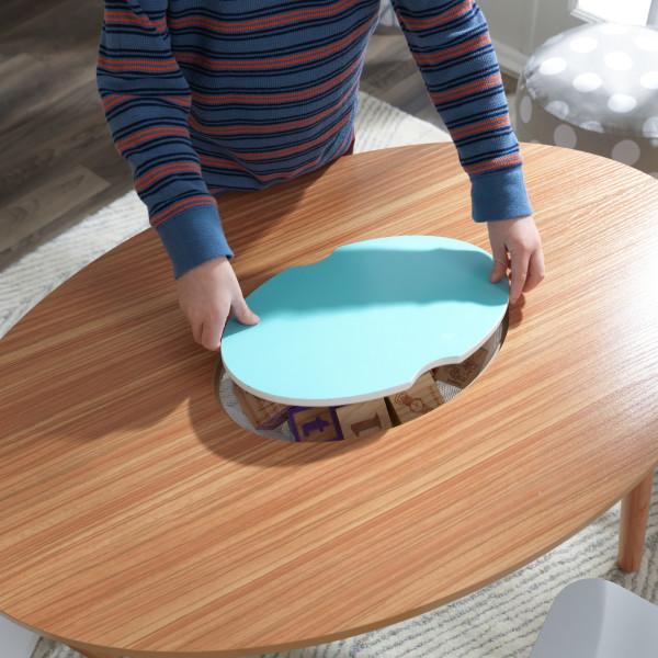 Kidkraft juego de mesa y sillas Mid Century 26195 - vista almacenaje cerrando