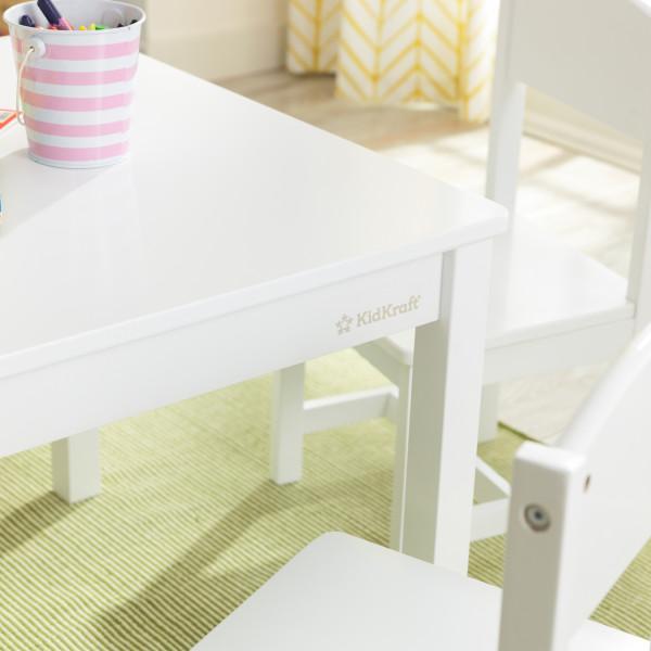 Kidkraft set de mesa y 4 sillas Farmhouse 21455 - zoom mesa