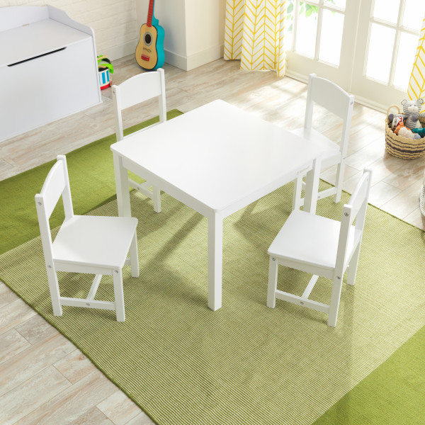 Kidkraft set de mesa y 4 sillas Farmhouse 21455 - vista set