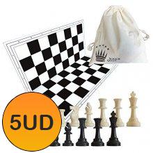 pack set 5 tableros más piezas negro
