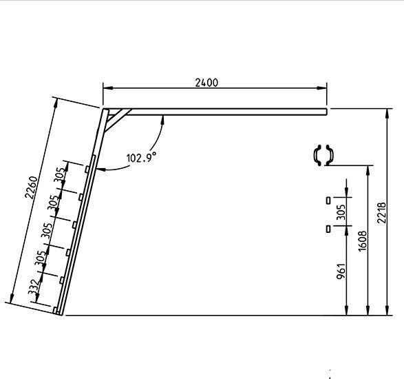 Escalera de mono - Grafico lateral