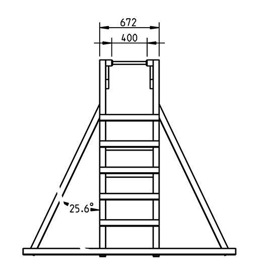 Escalera de mono - grafico frontal