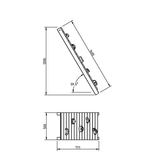 Complemento para parques Wall para 120cm - grafico medidas