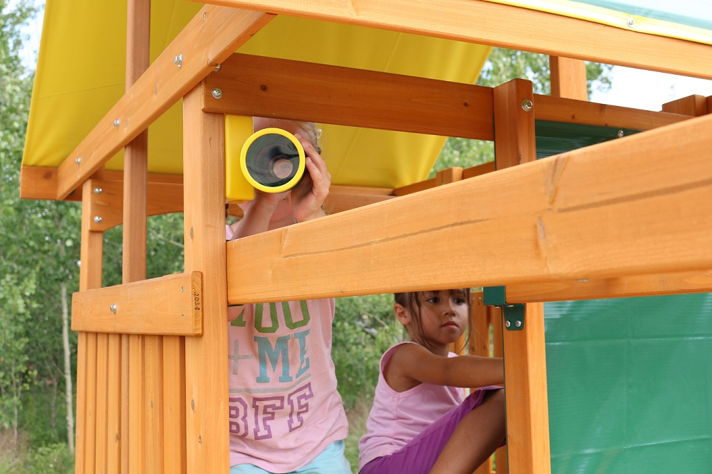 Parque para Niños de Madera Brookridge de Kidkraft - Vista plataforma