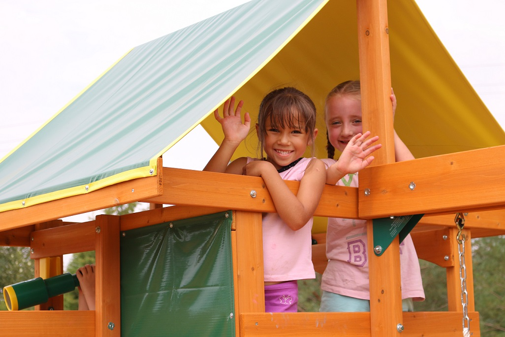 Parque para Niños de Madera Brookridge de Kidkraft - Vista tejado