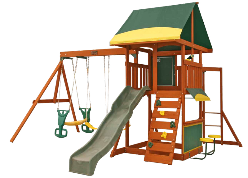 Parque para Niños de Madera Brookridge de Kidkraft - Fondo blanco
