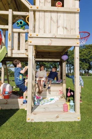Parque infantil Palazzo XL con challenger - vista zona de descanso