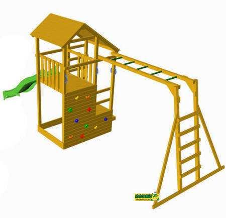 Parque Infantil Teide con escalera de mono